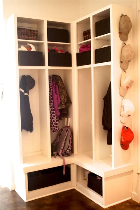 Corner Entryway Storage - 27 best small corner mudroom images on laundry