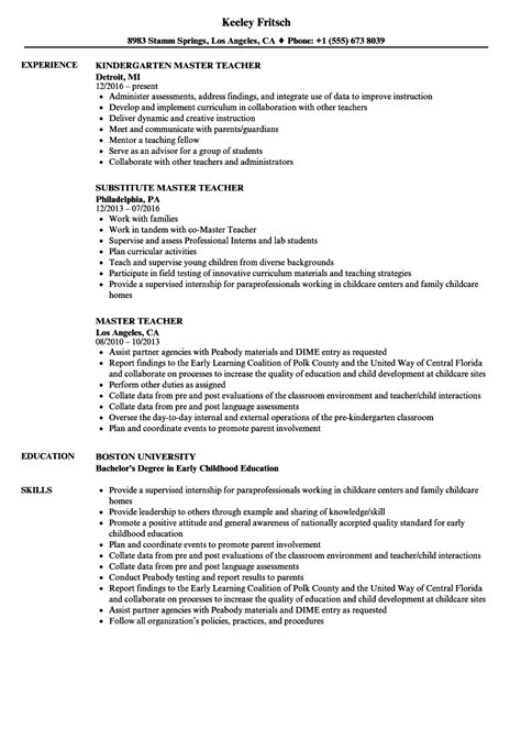 early childhood education resume samples proposal resume