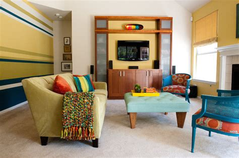 colorful modern living room contemporary living room austin  room fu knockout interiors