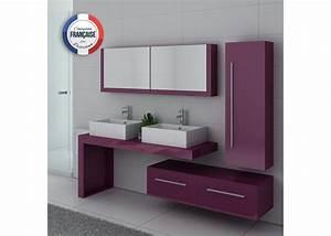 Meuble De Salle De Bain Double Vasque : ensemble meubles salle de bain meubles salle de bain aubergine dis9350au ~ Teatrodelosmanantiales.com Idées de Décoration