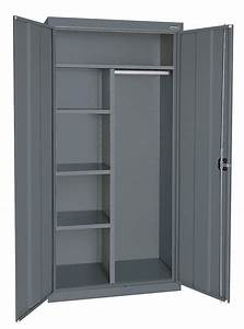 Sandusky, Commercial, Storage, Cabinet, Charcoal, 72, In, H, X, 36, In, W, X, 24, In, D, Assembled