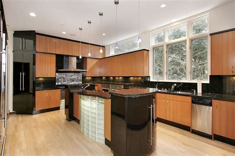 modern kitchen cabinets black 43 quot new and spacious quot light wood custom kitchen designs Modern Kitchen Cabinets Black