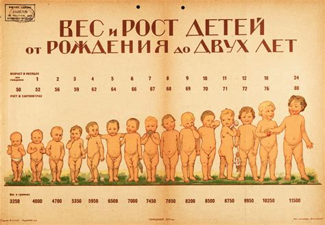 Weight And Height Of Children 1920 Infographic