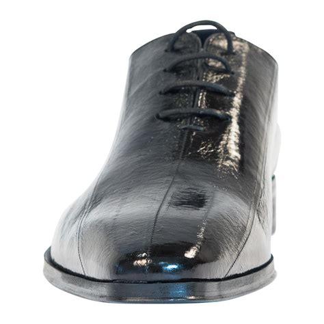 bernard black eel skin laced  dress shoes paolo shoes