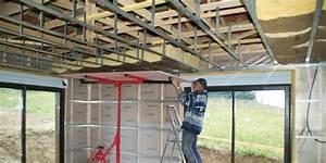 Poser Placo Mur Avec Rail : double plafond placo maison travaux ~ Melissatoandfro.com Idées de Décoration