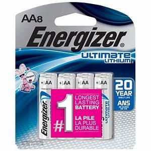 Lithium Aa Batterie : energizer ultimate lithium aa battery 8 pack l91sbp 8 the home depot ~ Orissabook.com Haus und Dekorationen