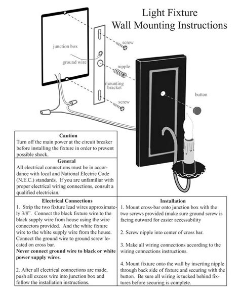 electric wall sconce assembly installation guide