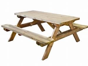 Table Bois Pique Nique : table pique nique robuste en bois jardipolys jardideco ~ Melissatoandfro.com Idées de Décoration