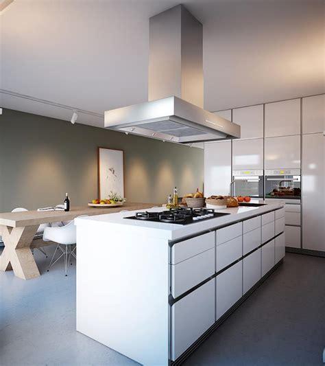 White Kitchen Island  Interior Design Ideas