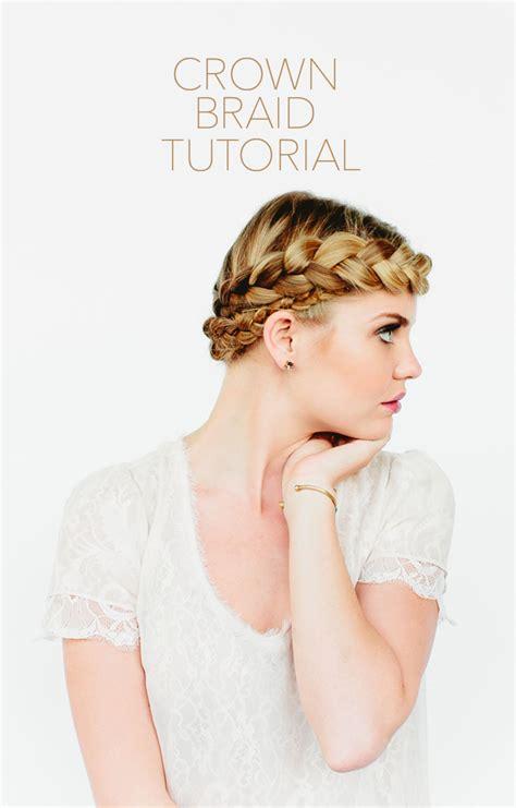 crown braid tutorial once wed