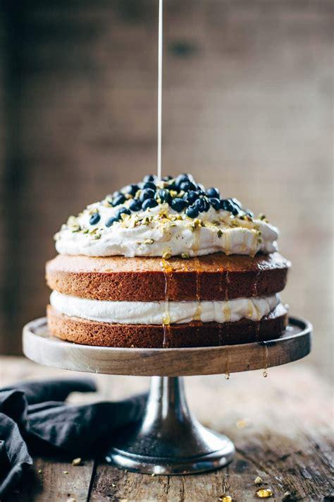 blueberry orange brunch cake  agave  pistachios