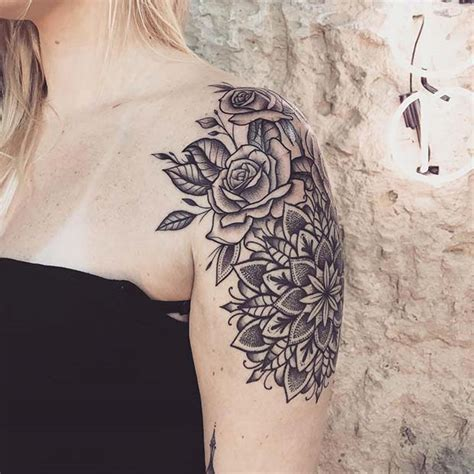 beautiful shoulder tattoos  women stayglam