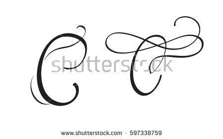 Letter Script Stock Vector 23861926 Shutterstock