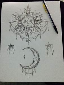 sun and moon drawing | Tumblr