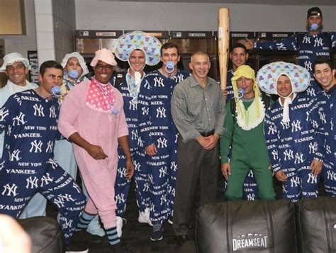 Ny Yankees Baby Yankees 39 39 Baby Bombers 39 Dress As Babies On Flight To