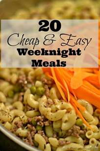 Cheap and Easy Meal Recipes