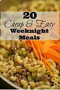 Easy Supper Ideas Cheap by 20 Cheap Easy Weeknight Meals 4 Hats And Frugal