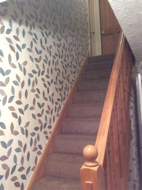 wallpaper ideas  stairs  landing gallery