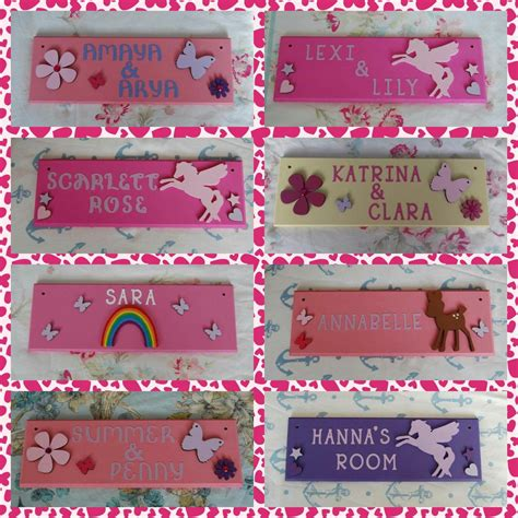 teenage girls personalised bedroom door  plaque