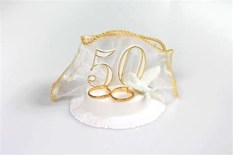 goldhochzeit aus kunststoff mit taube und ring ca  cm