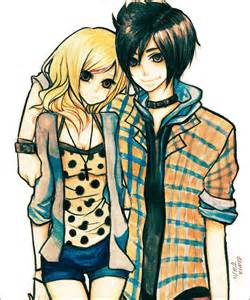 Cute Emo Anime Couples Drawings