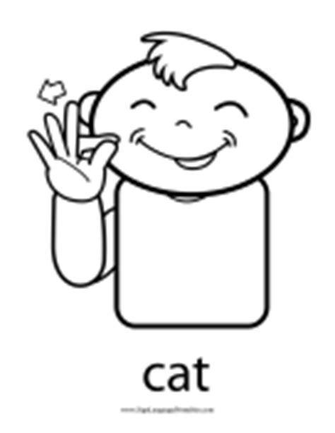 Outline Baby Sign Language Signs