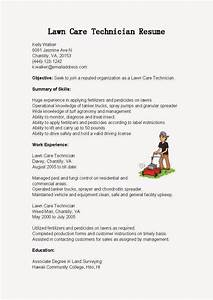 resume samples lawn care technician resume sample With sample resume for lawn care worker