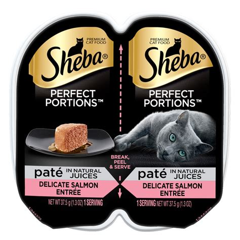 sheba perfect portions pate wet cat food trays seafood