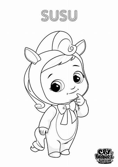 Cry Babies Coloring Colouring Tears Susu Toys