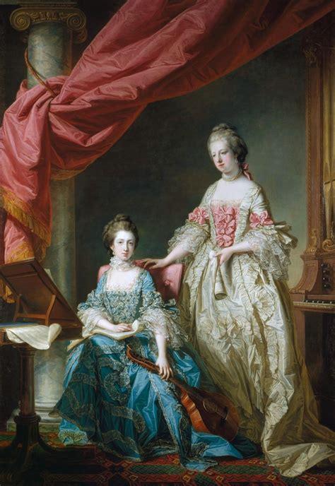1767 Princess Louisa and Princess Caroline by Francis ...