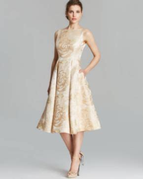 dress brokat fit s m papell dress sleeveless brocade tea length