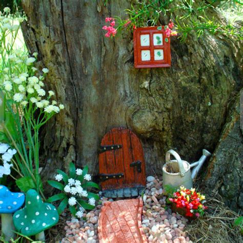 Kitchen Conservatory Ideas - fairy doors in the garden ideal home
