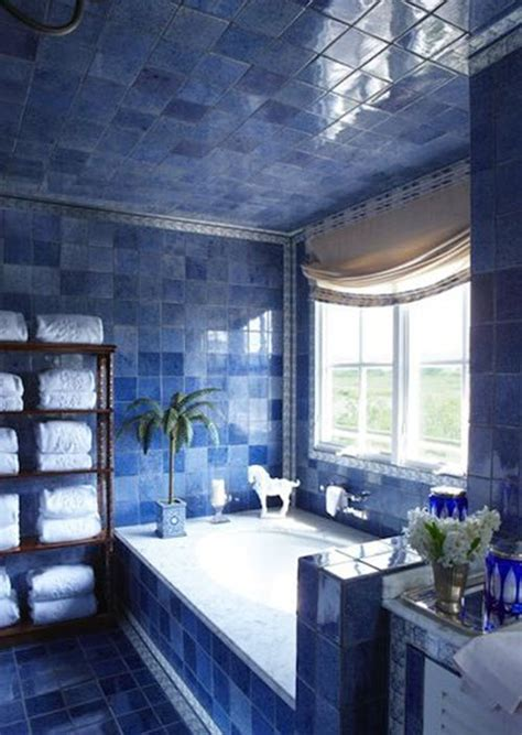 blue bathroom wall tile ideas  pictures