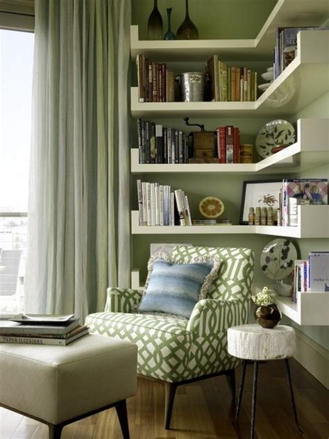 clever ideas small corner shelves  living room design