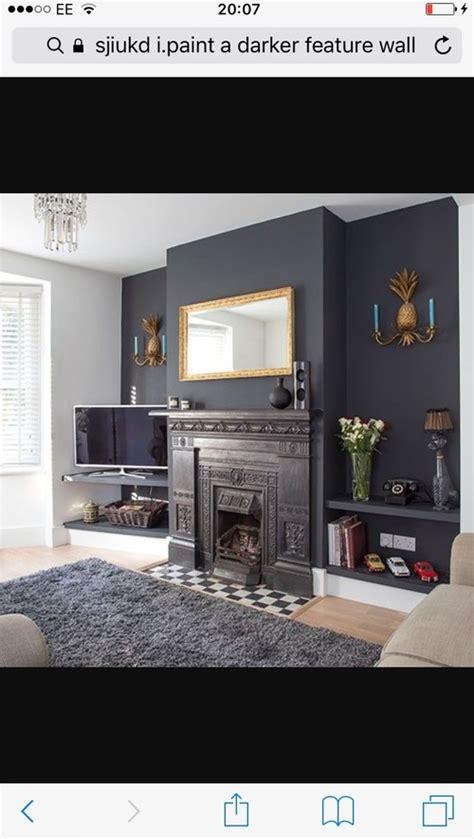 dark grey feature wall