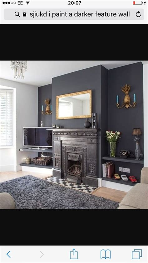 black curtains for living room grey feature wall