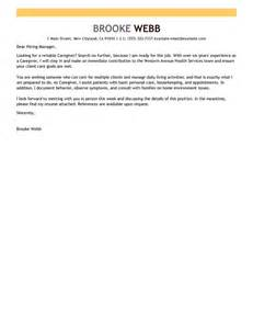 Warehouse Position Cover Letter Leading Professional Caregiver Cover Letter Exles Resources Myperfectcoverletter