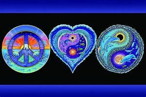 Love And Peace : peace love happiness blacklight poster 24x36 ~ A.2002-acura-tl-radio.info Haus und Dekorationen