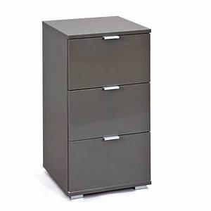 Caisson Bureau Noir : caisson de bureau 3 tiroirs nakano noir ~ Teatrodelosmanantiales.com Idées de Décoration