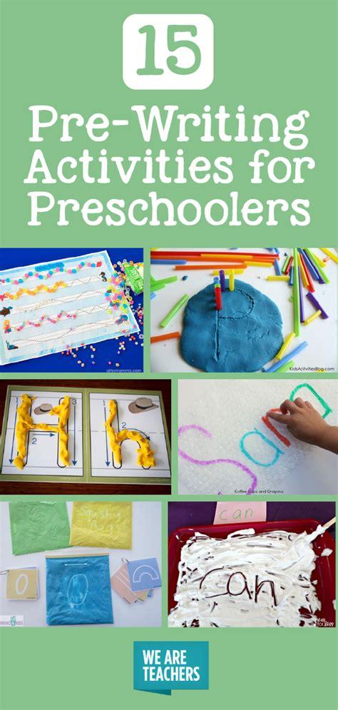 pre writing activities for preschoolers weareteachers 608 | 15 Pre Writing Activities for Preschoolers 01