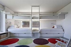 space saving beds bedrooms With double bunk beds ideas for modern look