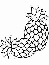 Coloring Pineapple Fruits Fruit Outline Drawing Template Printable Recommended Clipartmag Mycoloring sketch template