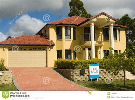 modern sale modern house for sale royalty free stock image image 12454516
