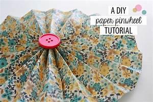 a diy paper pinwheel tutorial green diy