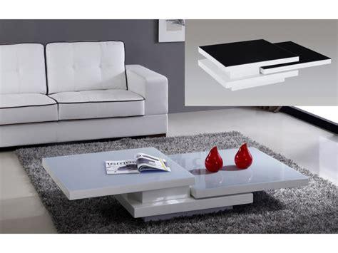 bureau verre trempe table basse estrada plateaux pivotants mdf 3 coloris