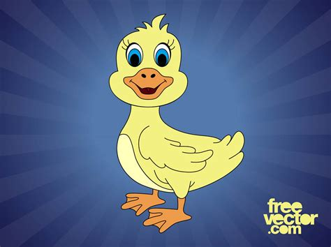 Cartoon Duck Vector Art & Graphics