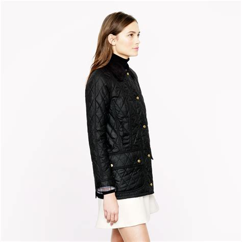 barbour beadnell quilted jacket j crew barbour quilted beadnell jacket in black lyst
