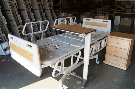 used hospital bed table for sale hill rom overbed tables for sale hospital beds