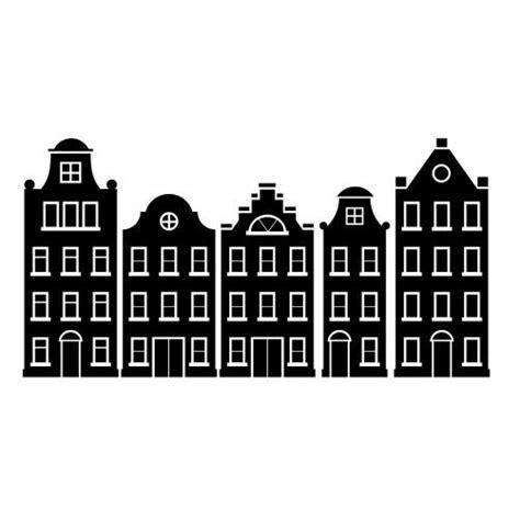 Kleurplaat Amsterdamse Huisjes by Amsterdamse Huisjes Sticker Muurstickers Raamstickers