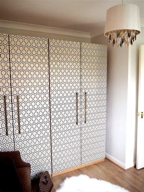 beautify  furniture  wallpaper wardrobe makeover